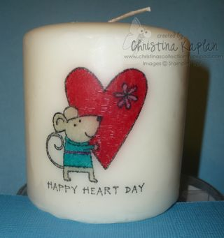 Heart Mouse Candle-0