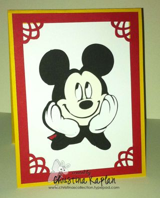 Mikey Mouse Face Invitation0