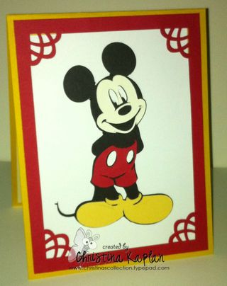 Mikey Mouse Standing Invitation0